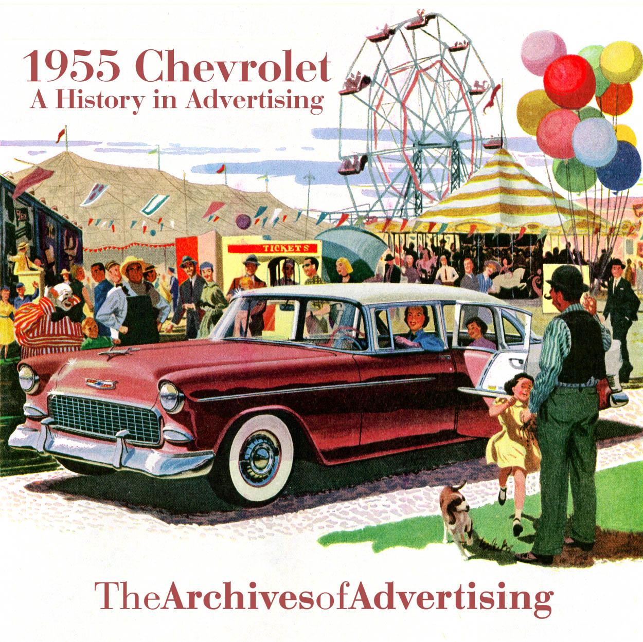 1955 Chevrolet ad CD-ROM over 110 ads! Bel Air Biscayne Nomad 210 ++