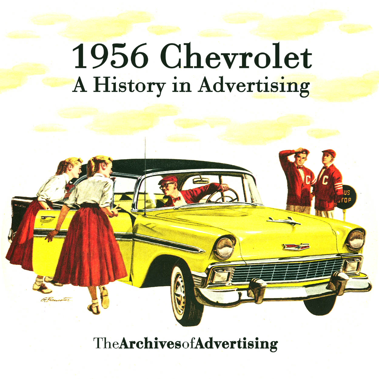 1956 Chevrolet ad CD-ROM over 110 ads! Bel Air Biscayne Nomad 210 ++