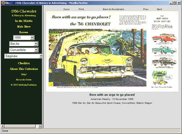 1956 Chevrolet ad CD-ROM over 110 ads! Bel Air Biscayne Nomad 210 ++