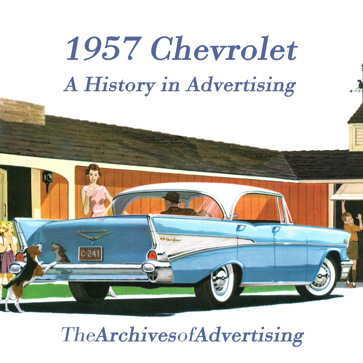 1957 Chevrolet ad CD-ROM over 100 ads! Bel Air Biscayne Nomad 210 ++