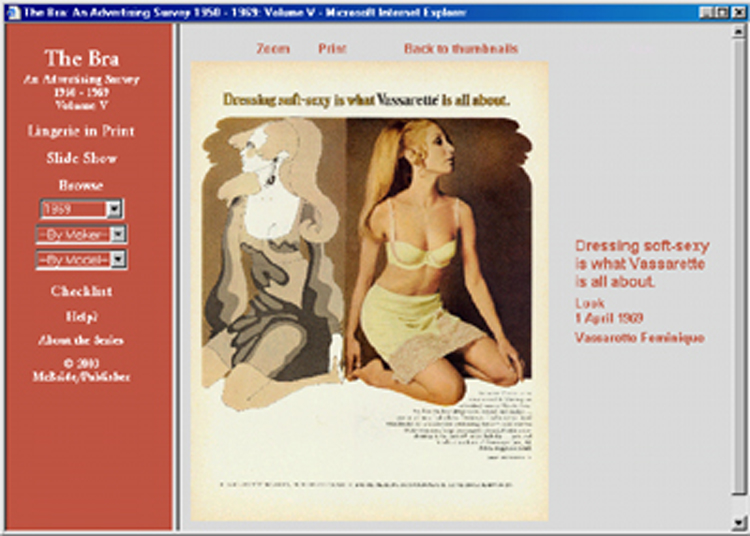 The Bra ad CD-ROM Volume Five: 100 different ads 1950s-1960s