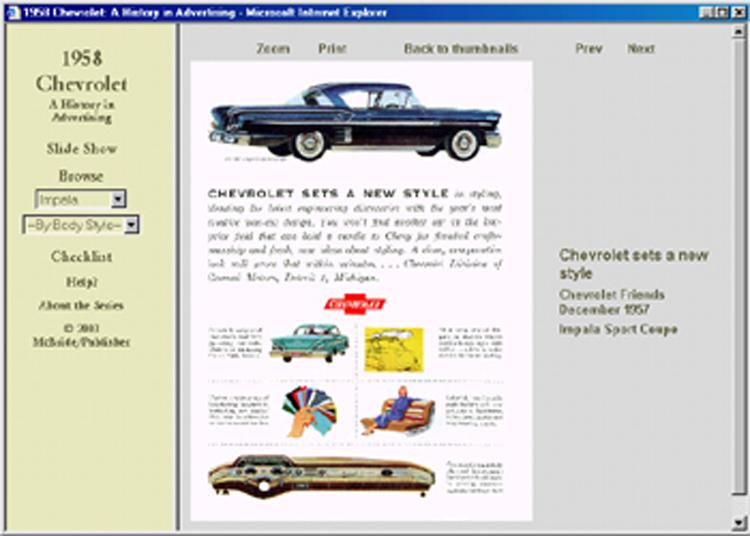 1958 Chevrolet ad CD-ROM: 75+ ads! Impala Bel Air Biscayne Brookwood Nomad
