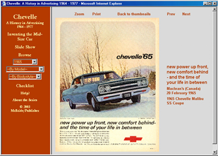 1964 1965 1966 1967 1968 1969 1970 1971 1972 1973-1977 Chevelle ad CD: 195 ads!