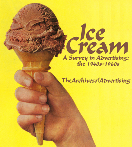 Ice Cream ad CD-ROM 100 ads 1940s-1960s Sealtest Hood Howard Johnson's + more