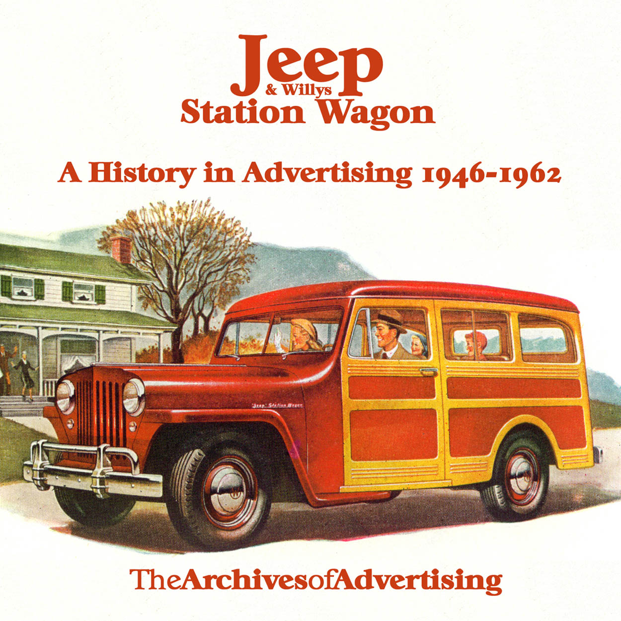 Image for 1946 1947 1948 1949 1950 1951 1952-1962 Jeep Willys Station Wagon ad CD 100+ ads