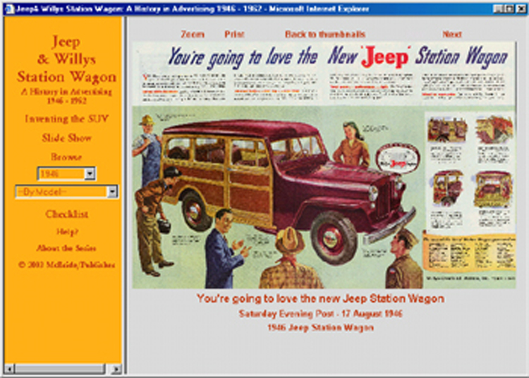 1946 1947 1948 1949 1950 1951 1952 1962 Jeep Willys Station Wagon Ad