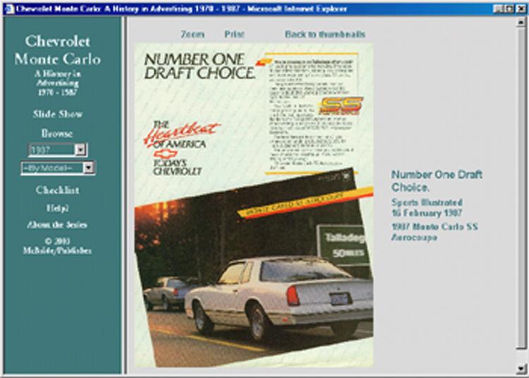 1970 1971 1972 1973 1974 1975 1976 1977-1987 Chevrolet Monte Carlo ad CD 90+ ads