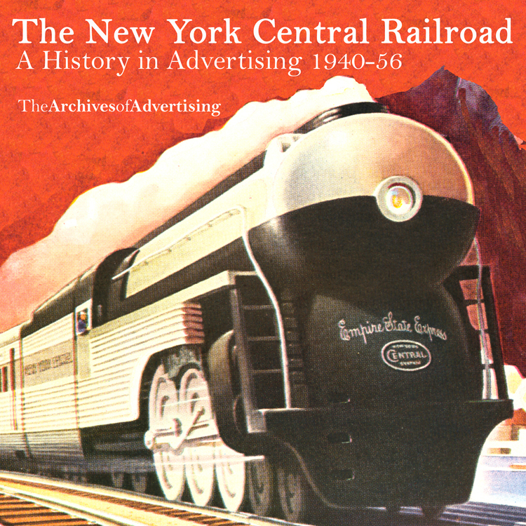 New York Central Railroad Ad CD-ROM 1940-1956 95+ different ads!