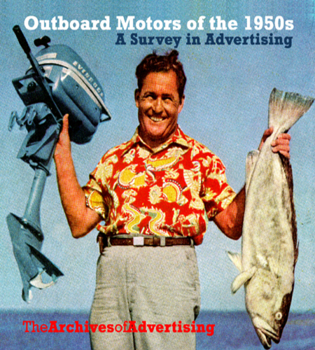 Image for 1950s Outboard Motor ad CD 100 ads Evinrude Mercury Atwater Johnson Scott ++