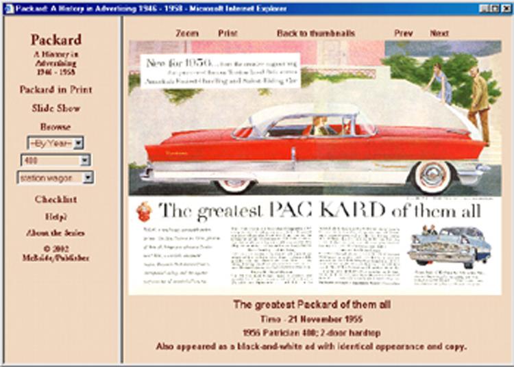 1946 1947 1948 1949 1950 1951 1952 1953 1954 1955-1958 Packard ad CD: 170+ ads!