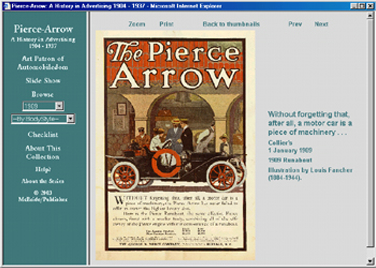 Pierce-Arrow ad CD-ROM covers model years 1905 to 1937 300+ different ads!