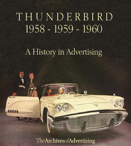 Ford Thunderbird 1958 1959 1960 ad CD-ROM 80+ ads! Squarebird