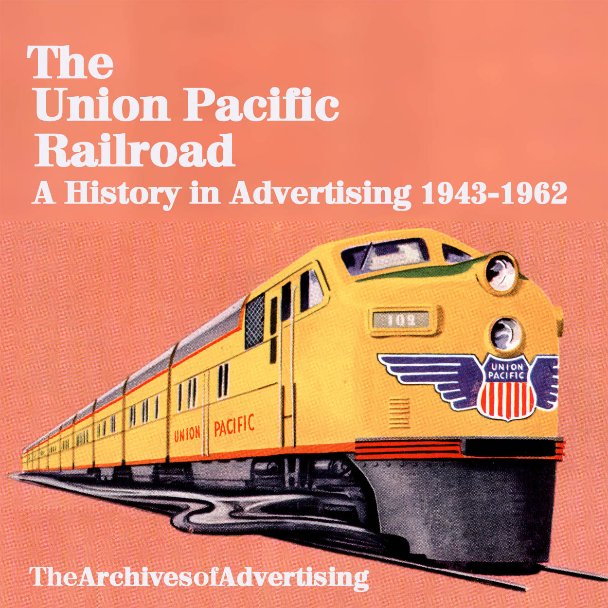 Union pacific railroad ad cd rom 1940s 60s 125 different ads biocorpaavc