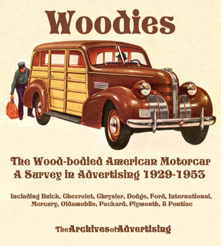 Image for Woodie Woody Station Wagon car ad CD 1929-1953 160 different ads