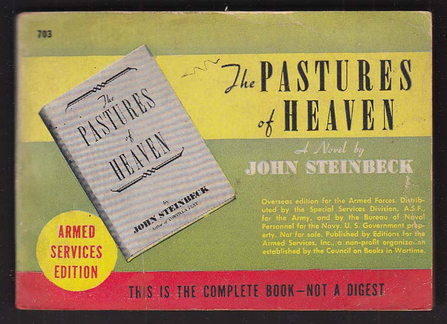 ASE 703 John Steinbeck: The Pastures of Heaven Armed Services Edition