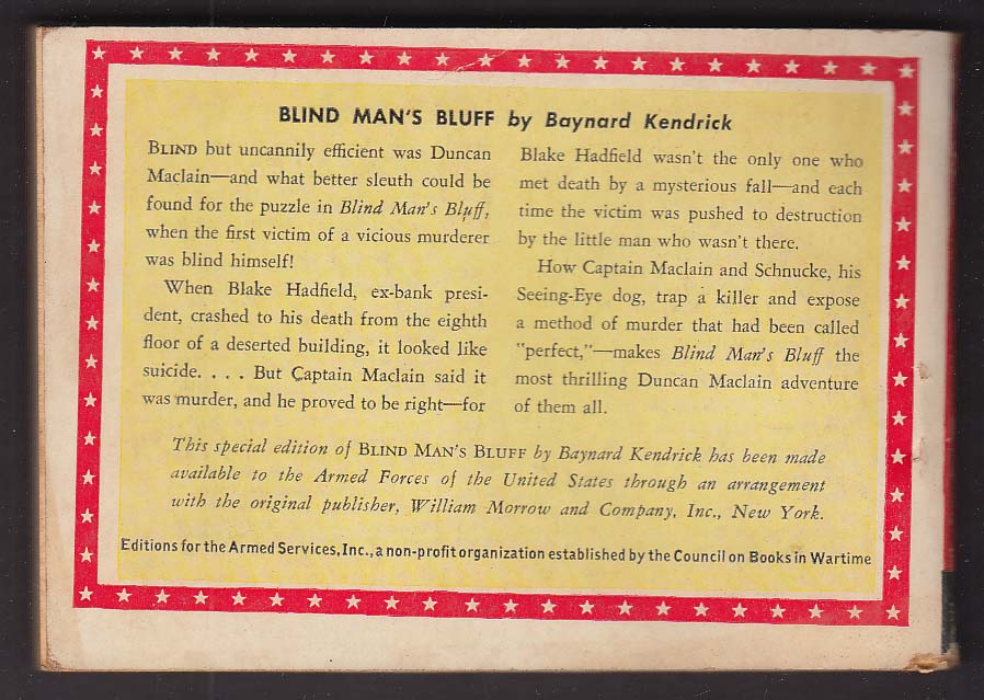 ASE 786 Baynard Kendrick: Blind Man's Bluff Armed Services Edition