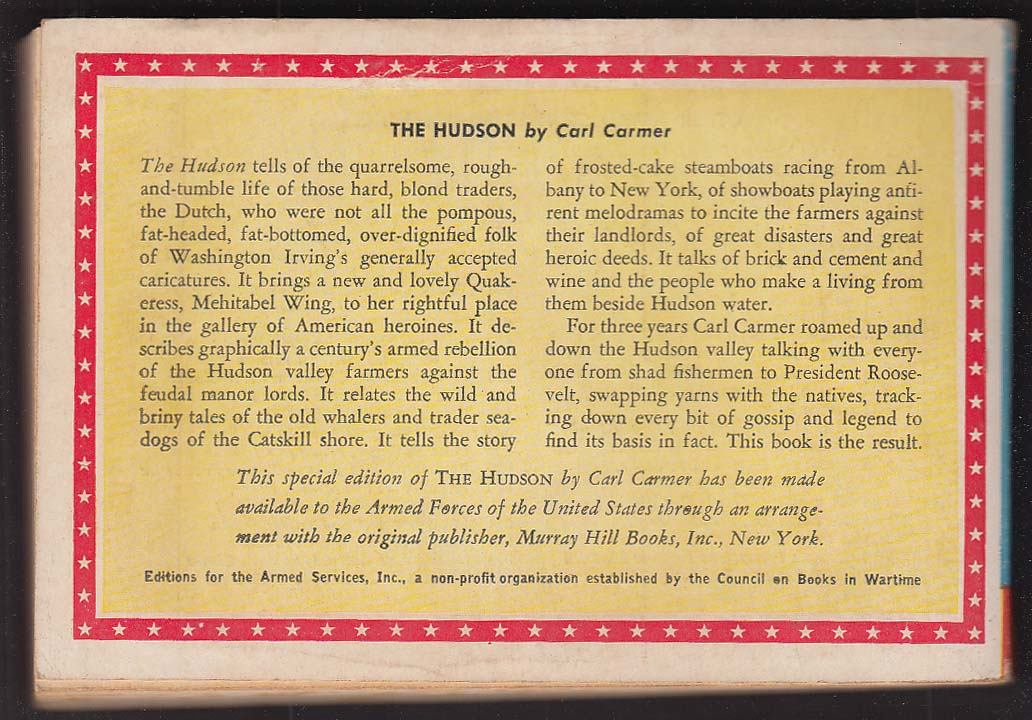 ASE 806 Carl Carmer: The Hudson Armed Services Edition