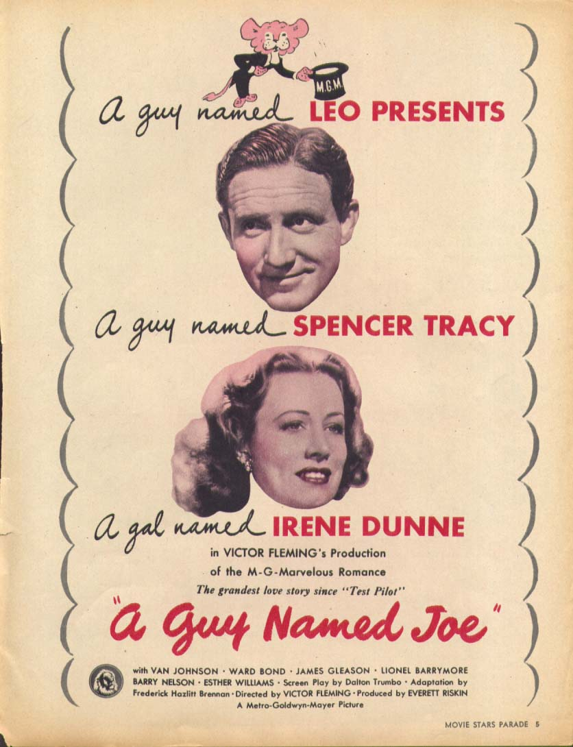 A Guy Named Joe Spencer Tracy movie ad 1944