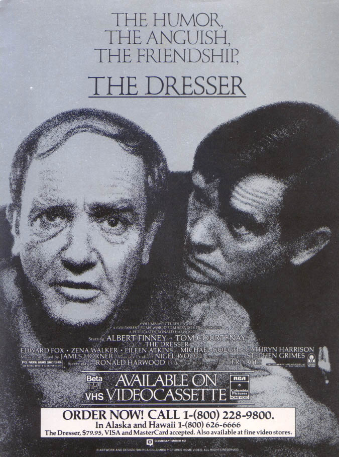 Albert Finney Tom Courtenay The Dresser ad 1983