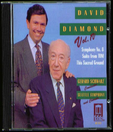 Image for David Diamond Symphony #8 ++ CD Delos