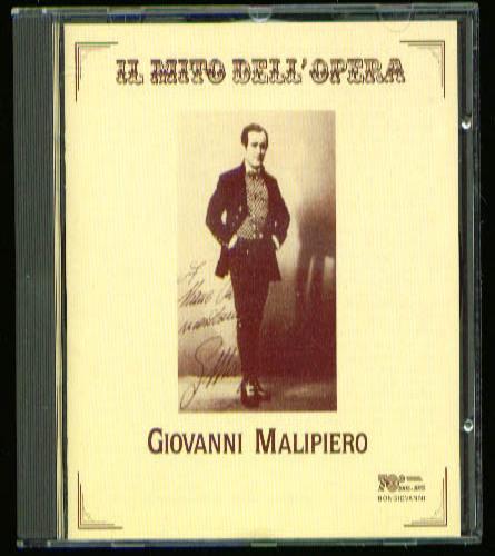 Image for Giovanni Malipiero Il Mito dell'Opera CD