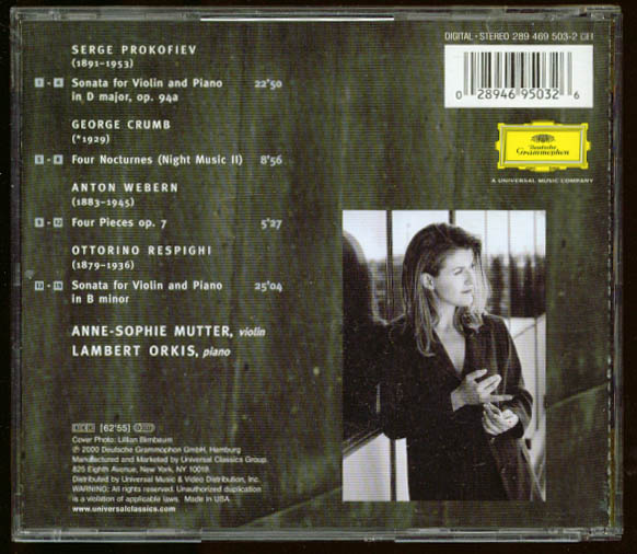 Image for Anne-Sophie Mutter Recital 2000 Prokofiev + CD DGG