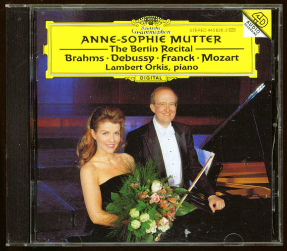 Anne-Sophie Mutter: Berlin Recital Brahms Debussy + CD