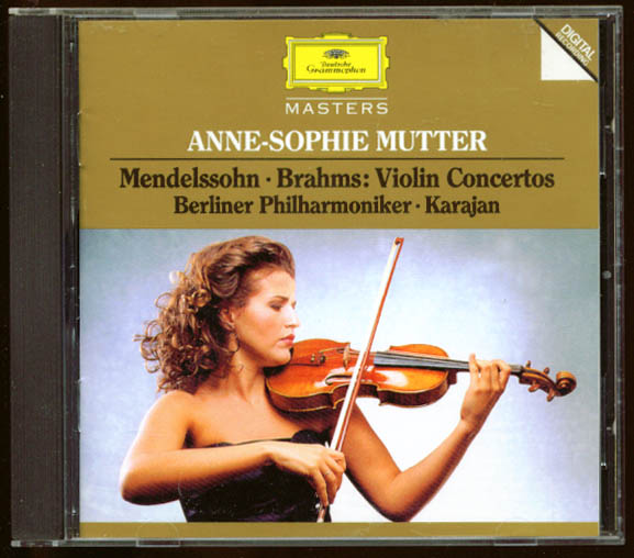 Image for Mutter: Mendelsosohn Brahms Violin Concerto CD DGG