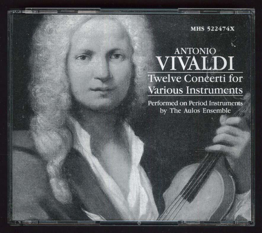 Antonio Vivaldi 12 Concerti Aulos Ensemble CD 1989 MHS 522474X
