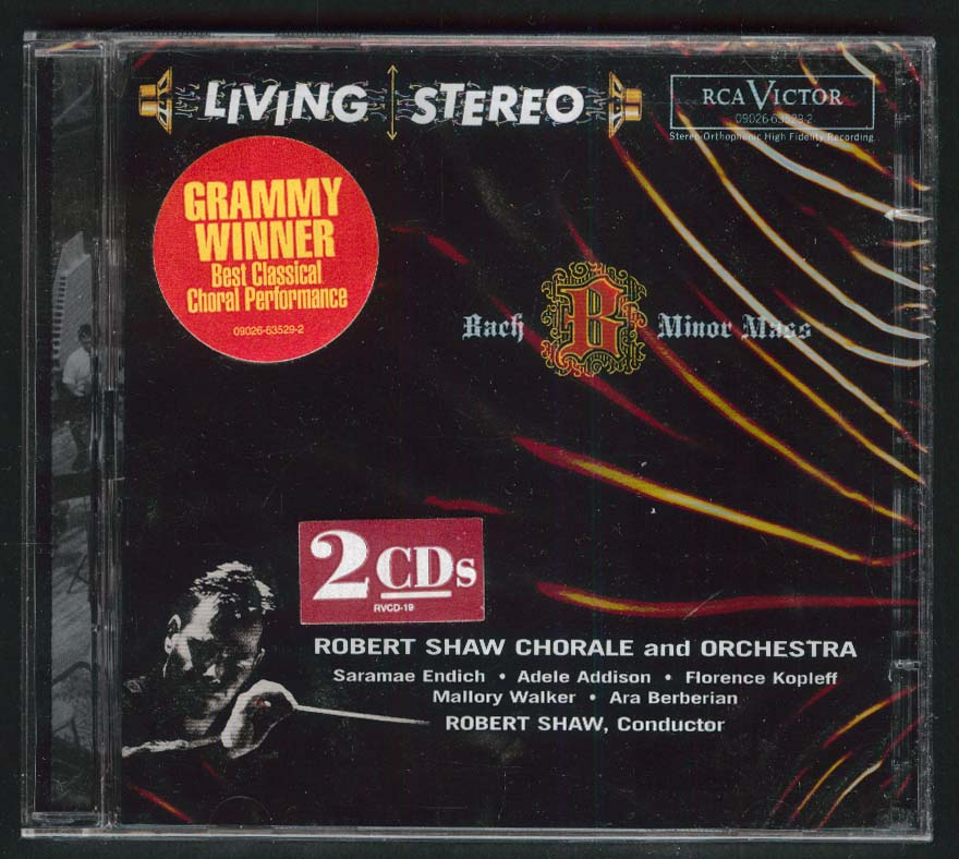 Image for Robert Shaw Chorale & Orchestra Bach B Minor Mass BWV 232 CD