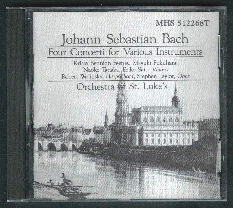 Bach 4 Concerti Orchestra of St Luke's CD 1988 D C A Minor Major