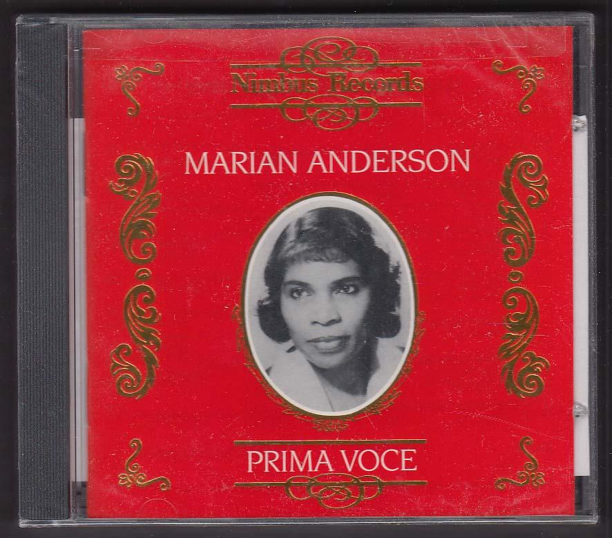 Image for Marian Anderson: Prima Voce Nimbus Records CD 1996