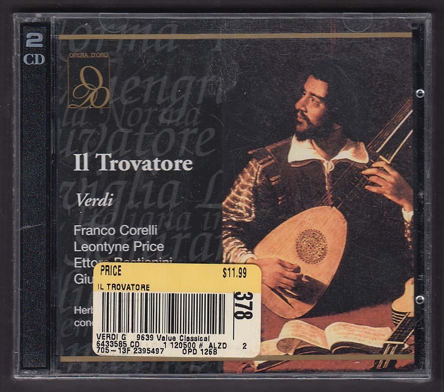 Image for Il Trovatore Verdi OPD-1268 Opera D'Oro CD 2000