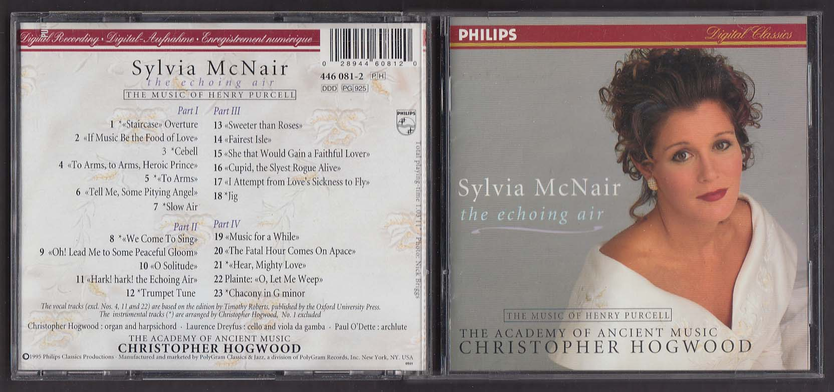 Image for Sylvia McNair: The Echoing Air Music of Henry Purcell Philips CD 1995
