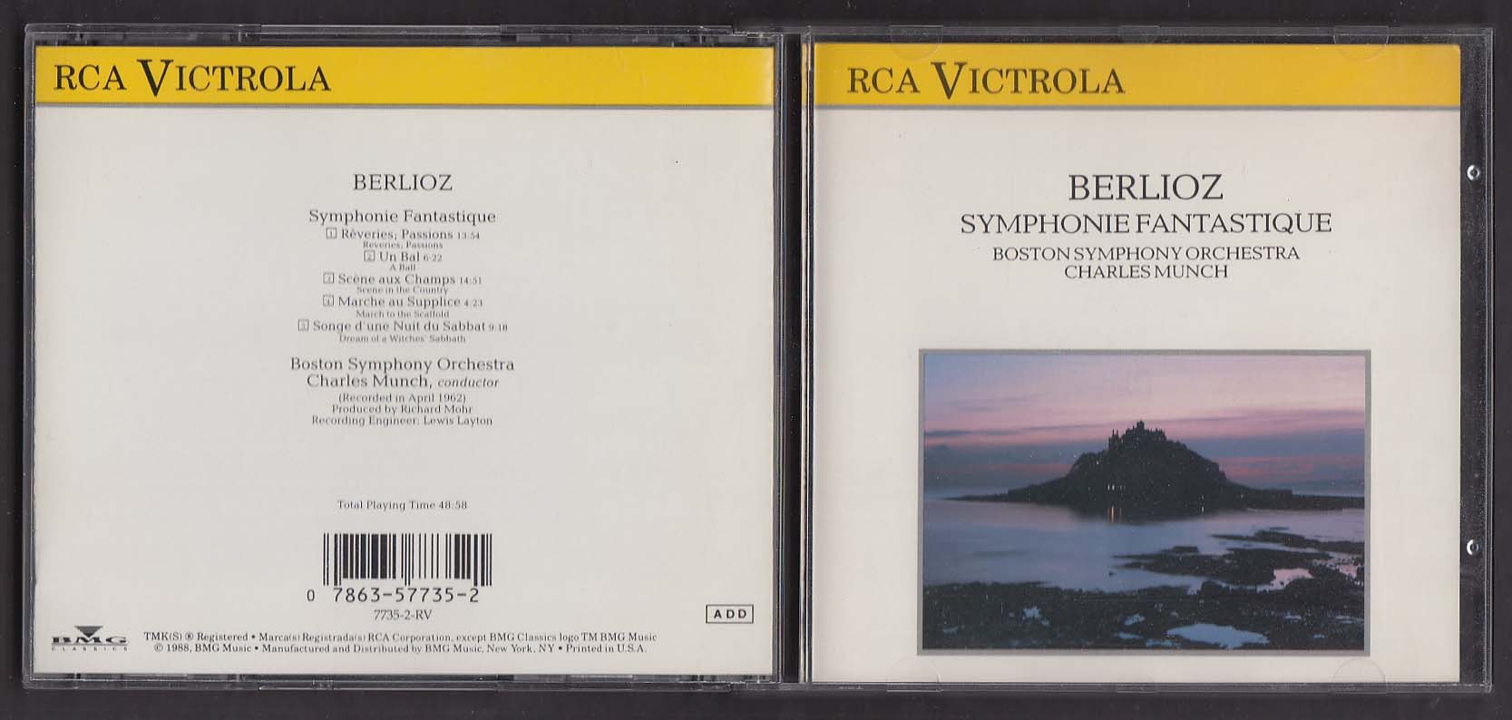Berlioz: Symphonie Fantastique Boston Symphony Munic RCA Victrola CD 1988