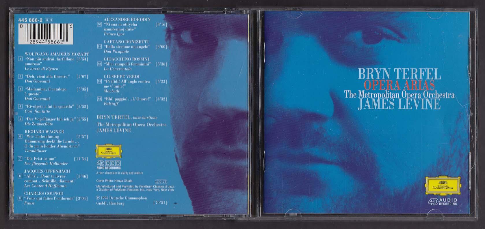 Bryn Terfel Opera Arias Metropolitan James Levine Deutsche Grammophon CD 1996