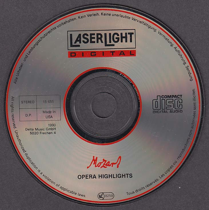 Mozart: Opera Highlights LaserLight 15 655 CD 1990