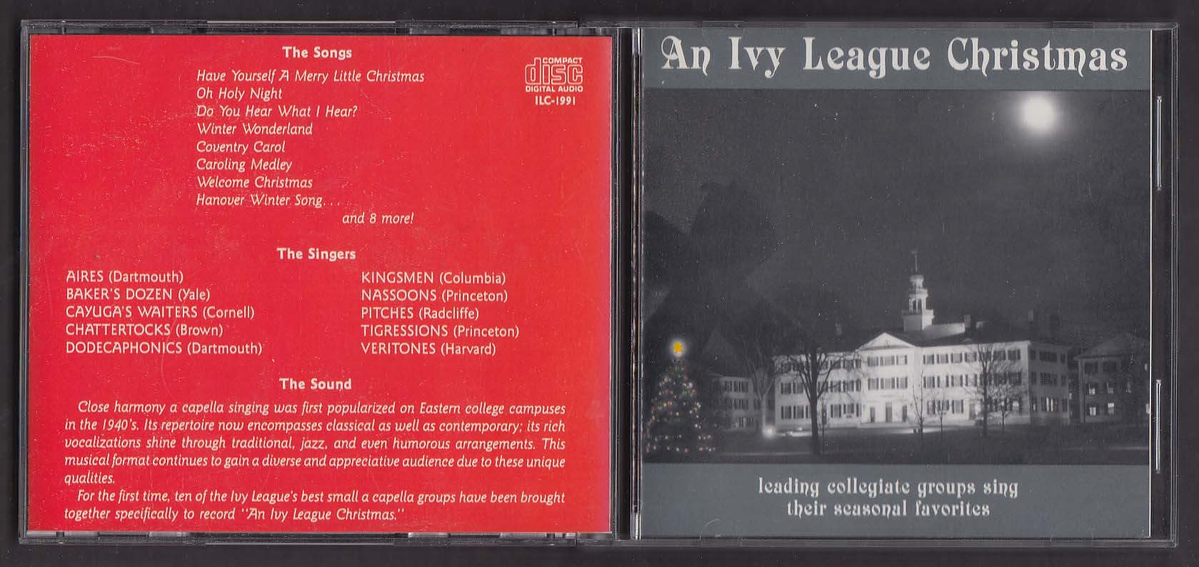 An Ivy League Christmas ILC-1991 CD Darmouth Yale Cornell Princeton Harvard ++