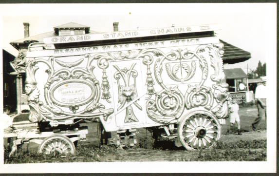 Hagenbeck Wallace Circus Ticket Wagon 1934