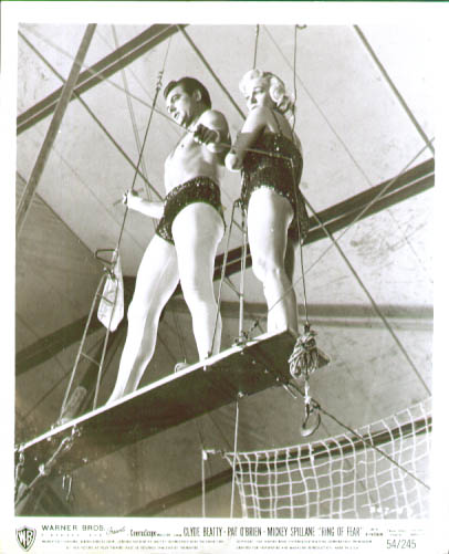 Image for Clyde Beatty aerialist Ring of Fear 8x10 #1