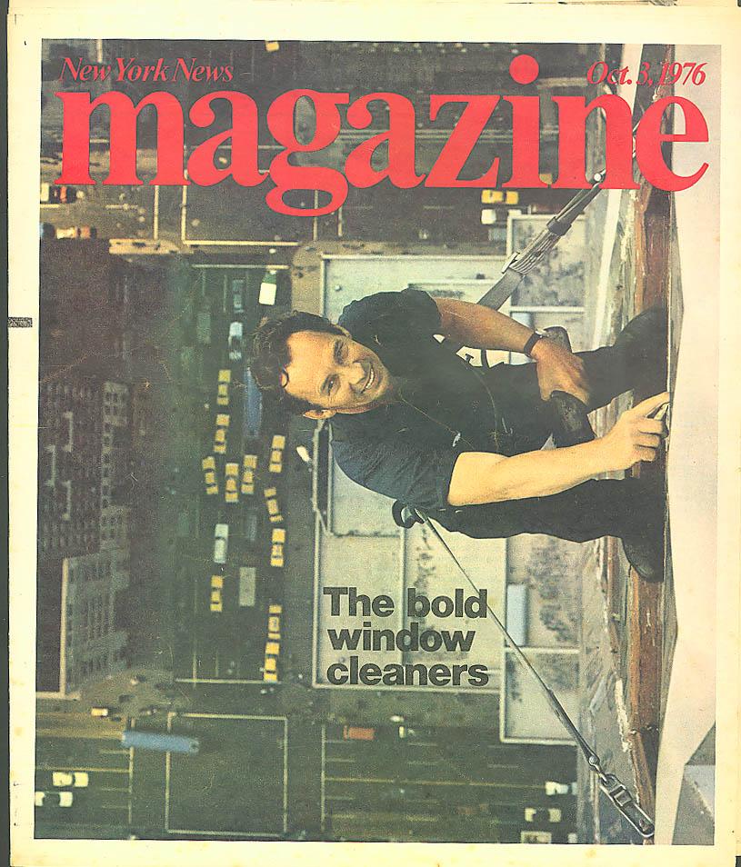 NEW YORK NEWS Skyscraper Window Cleaners Billy Martin 10/3 1976