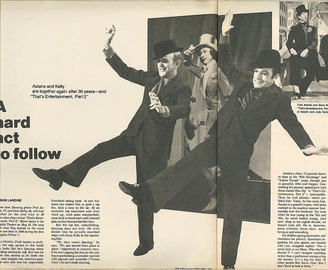 NEW YORK NEWS Fred Astaire Whitney Sculpture Show 5/2 1976