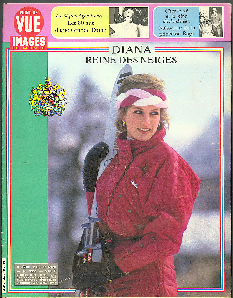 POINT DE VUE Images du Monde Princess Diana; Raya of Jordan born 2/14 1986