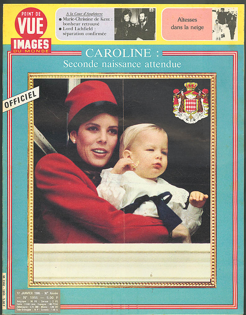 POINT DE VUE Images du Monde Princess Caroline 1/17 1986