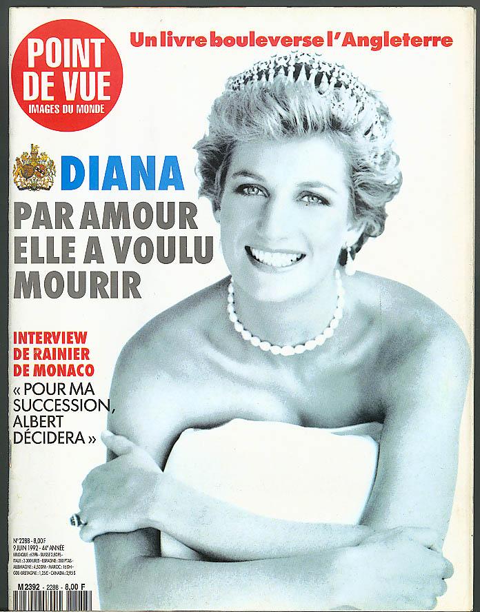 POINT DE VUE Images du Monde Princess Diana Rainier Albert 6/9 1992