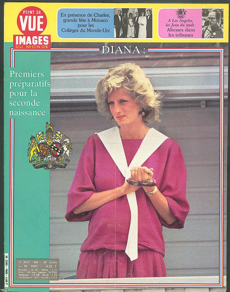 POINT DE VUE Images du Monde Princess Diana Prince Charles Olympics 8/10 1984