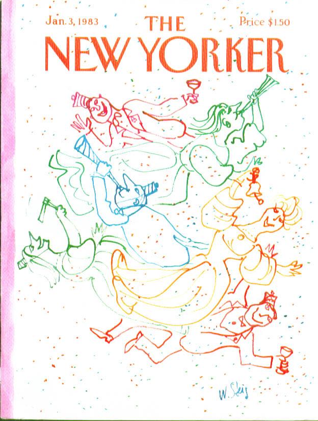 New Yorker cover Steig New Year spirits 1/3 1983