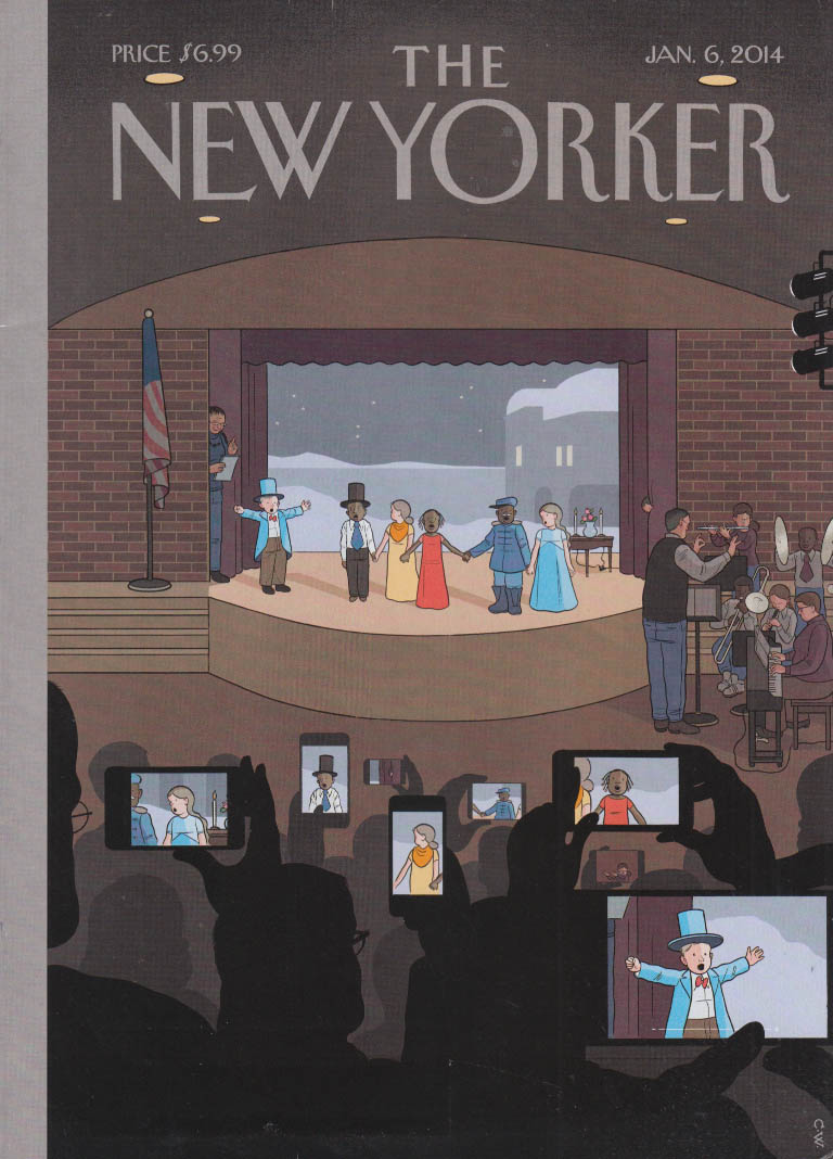 New Yorker cover 1/6 2014 Ware: cellphones record kid's Racial Equality Pageant