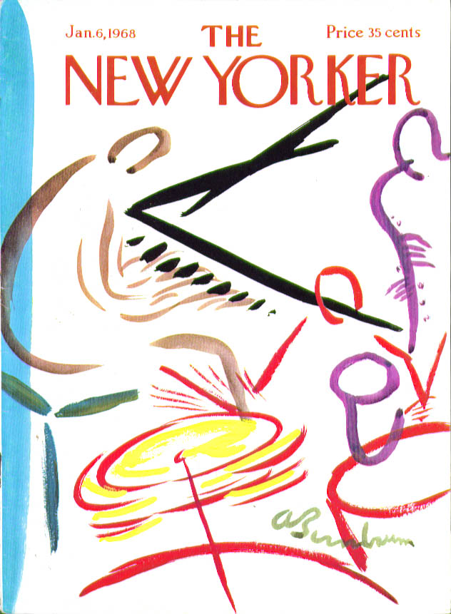 New Yorker cover Birnbaum jazz combo 1/6 1968
