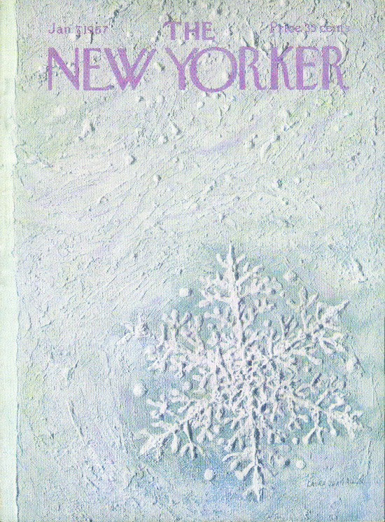 New Yorker cover Allen single snowflake 1/7 1967